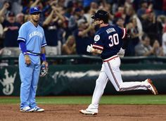 Cleveland Indians' Tyler Naquin runs the bases after a solo home run in the sixth inning  against the Kansas City Royals, Saturday, June 4, 2016, At Progresive Field. Indians  won 7-1   (AP Photo/David Dermer)