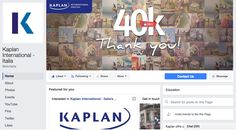 Kaplan International Italia - Facebook Fan Page - March 2015/February 2016