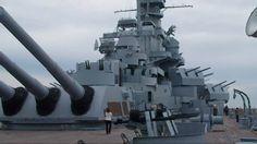 Battleship USS Alabama (BB-60) conning tower, secondary guns, AA guns and radar units! (google.image) 11.16 New