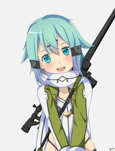 Arte Online, Online Art, Anime Girl Drawings, Art Drawings, Anime Demon, Manga Anime, Sinon Ggo, Kirito, Shino Sao