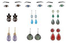 Smykkestyling til din øjenfarve - Blå, brune, grønne øjne? Tænk over din øjenfarve – øreringe i samme farve som dine øjne, eller i en komplimentærfarve fremhæver dine øjne på smukkeste vis. Få gode råd af JEWLSCPH og Mai Manniche til hvilke smykker der passer perfekt til din ansigtsform.