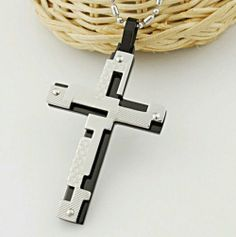 Steel Silver and Black Cross