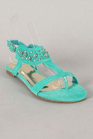 Ariel-11 Embellished Thong Flat Sandal