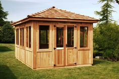 And just for fun, let's add a fully enclosed hot tub gazebo for year round use. :)