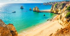 Photo about Beautiful sandy beach near Lagos in Panta da Piedade, Algarve region, Portugal. Hotel Portugal, Visit Portugal, Portugal Travel, Portugal Vs Spain, Travel Destinations Bucket Lists, Travel Tips, Food Travel, Cool Places To Visit, Places To Go