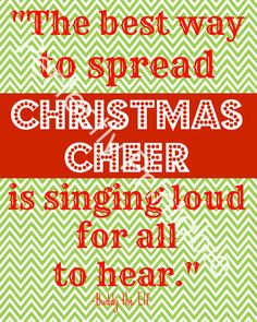 Buddy the Elf Quote... Christmas Printable