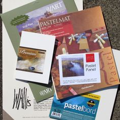 """Surfaces for Pastel Painting: Fibrous vs Sanded Pastel Papers. From Richard McKinley's """"Pastel Pointers"""" blog. ~ch"""
