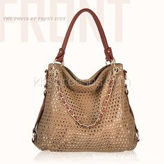 Cross Body Chains Handbag with Hollow-out Upper $33.99