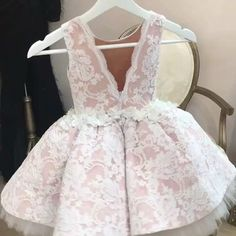 She's Sweet and Delicate Dress available at www. Little Dresses, Little Girl Dresses, Cute Dresses, Girls Dresses, Flower Girl Dresses, Fashion Kids, Baby Girl Fashion, Dress Anak, Kids Gown