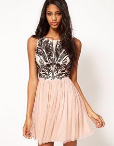 Lipsy Cornelli Look Skater Dress