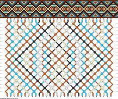 Friendship bracelet pattern - 30 strings - 5 colors