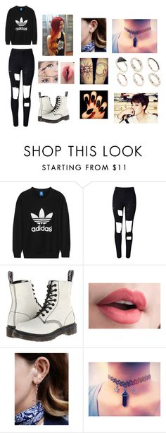 """""""Jimin - BTS"""" by helinaslays ❤ liked on Polyvore featuring adidas Originals, WithChic, Dr. Martens, Free People and Lipsy"""