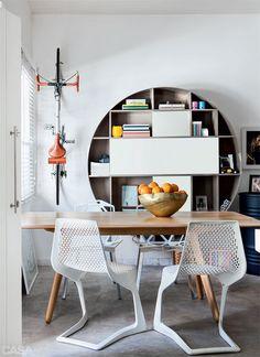 Cool round bookcase