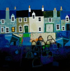 George Birrell - Harbour mixed media