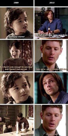Dean taking care of Sam