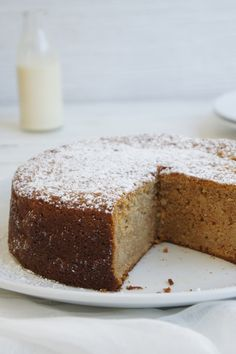 """ -- looks easy, but I will need to tinker to adjust sugar (as 2 cups stewed apple AND cup of sugar super sweet). Must also try making it GF and DF Easy Apple Cake, Apple Cake Recipes, Dessert Recipes, Desserts, Apple Cakes, Mini Cakes, Cupcake Cakes, Cupcakes, Gingerbread Cake"