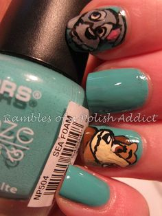 Disney nail art challenge day 11: Lady and the Tramp