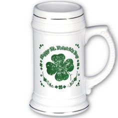 Happy St. Patrick's Day Coffee Mugs- vintage style    *This design is available on t-shirts, hats, mugs, buttons, key chains and much more*