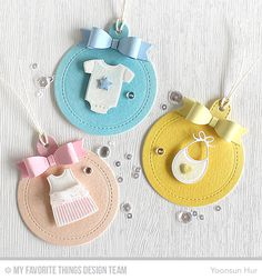 Bundle of Baby Clothes Die-namics, Creative Clips Die-namics, Tag Builder Blueprints 6 Die-namics - Yoonsun Hur  #mftstamps