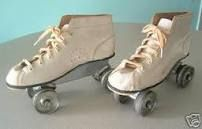 1970's...how about the ones that were metal and you used your own tennis shoe with!! those were my first pair!