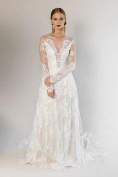 Claire Pettibone - Romantique 2017 wedding dress collection - Brides reviews collection from New York Bridal Fashion Week April 2016 (BridesMagazine.co.uk)