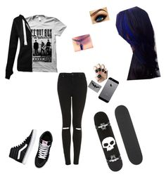 """""""I don't know"""" by angelina52 ❤ liked on Polyvore featuring Topshop, Vans and Zero"""