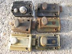 Antique Door Locks antique victorian door knobs and lock set : 2 door knob and two