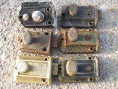 Cast Iron Vertical Rim Lock Set With Bennington Style Door Knobs |  Pinterest | Door Knobs, Porcelain Door Knobs And Antique Hardware