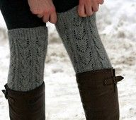 Boot socks created from the sleeves of an old thrift store sweater.
