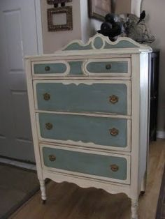 ASCP Dresser- I can't decide between whites and blues in the our bedroom or darker warmer colors