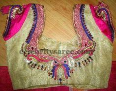 Dark Colors Maggam Work Blouses | Saree Blouse Patterns