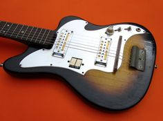 Teisco Audition 1960s Vintage Electric Guitar Gold Foil Pickup Japan