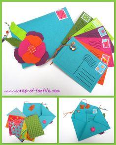 scrap et textile : boutique et blog: Albums et pochettes
