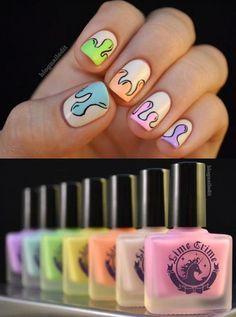 nails with dripping designs | ... crime nail polish nails nail design dripping nails pastel nail polish