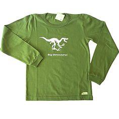 Remera Dino esqueleto de jersey de algodón-niño-ropa para chicos y bebes
