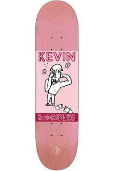 Kevin Rodrigues Punch Out Red Skateboard Deck by Polar