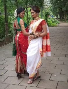 Marathi Nath, Marathi Bride, Marathi Wedding, Kashta Saree, Red Saree, Sarees, Body Diagram, Nauvari Saree, Saree Photoshoot