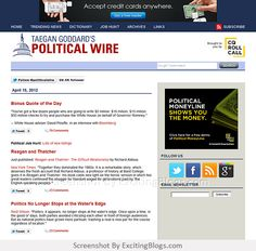 Taegan Goddards Political Wire - Click to visit site:  http://1.33x.us/HXccWe