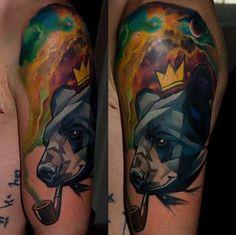 pipolu ayı dövmesi