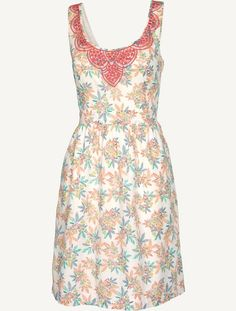 Isfield tropical floral dress