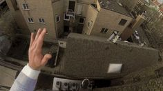 Insane Roof Jump - this guy had protective gear... DO NOT ATTEMPT UNLESS YOUR A PROFESSIONAL