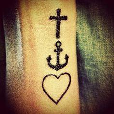 #Faith #hope #love #tattoo. Love it.  Faith hope love symbolic tattoos