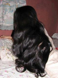 long shiny black hair