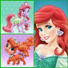 Ariel with Seashell (pony) & Treasure (kitten)   Disney Palace Pets