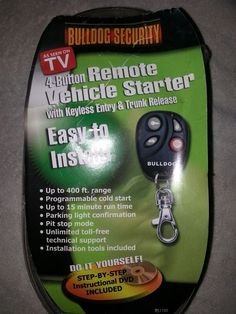 bulldog security remote starter | Consumer Electronics, Vehicle Electronics amp; GPS, Car Electronics Accessories | eBay!