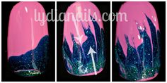 Lydia's Nails Dry Water Marble Tutorial