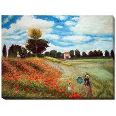 Monet 'Poppy Field in Argenteuil' Oil