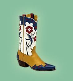 Rocketbuster Boots: Blue Bird boots styled after those of Gene Autry