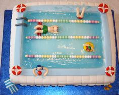pool themed cake - Google Search