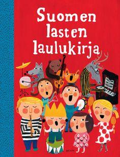Title: Suomen lasten laulukirja   Designer: Matti Pikkujämsä Children's Picture Books, Finland, Mid Century, Snoopy, Cover, Sunshine, Kids, Pictures, Illustrations